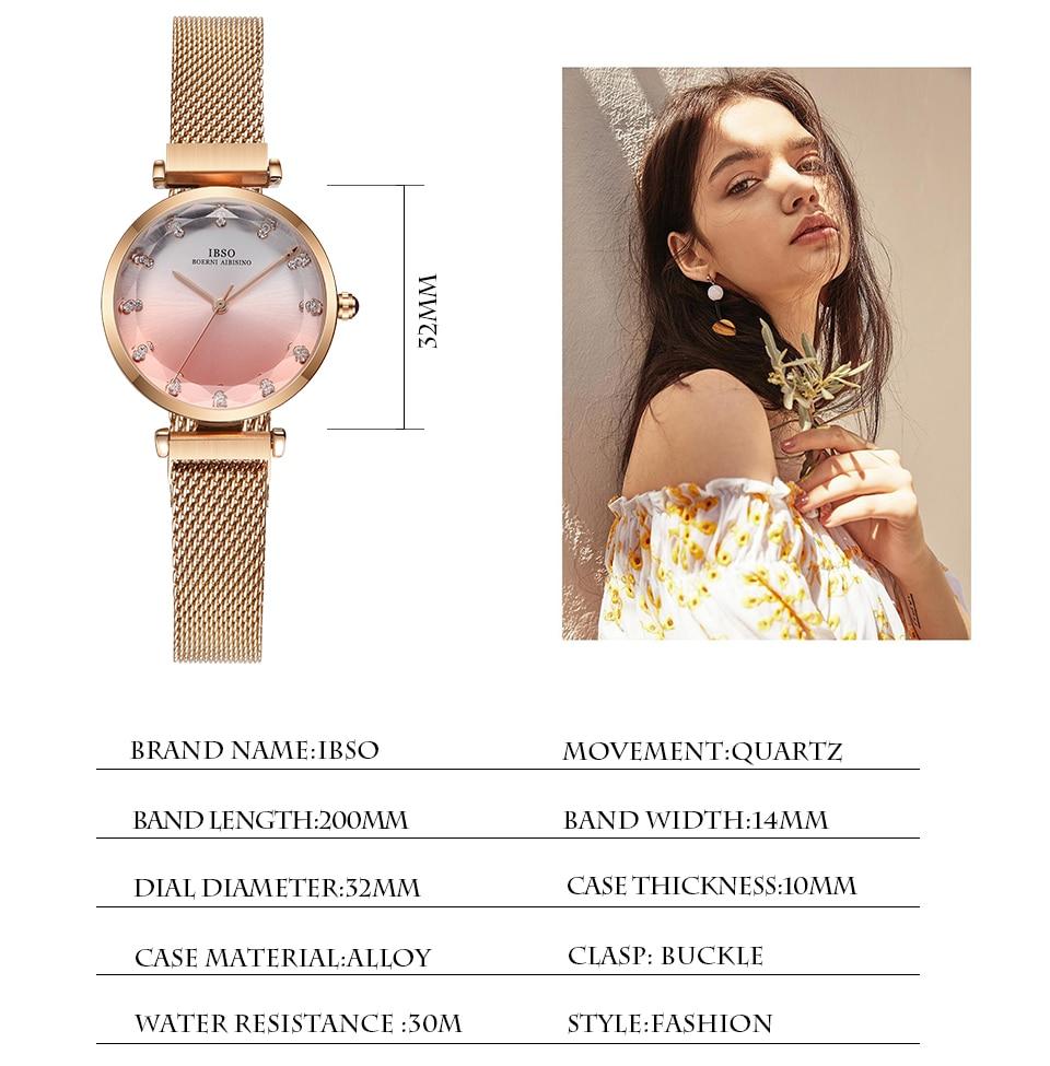 Fashion Women Hit Color Watches Female Cut Glass Design Quartz Watch Magnet Buckle 7