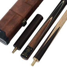 CUESOUL High Quality Handmade 58 Inch 3/4 Piece Snooker Cue + Extension and Case CSSC008