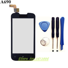 4.0 inch для Lenovo A690 Сенсорный экран планшета Панель Сенсор Замена объектива стекла 100% испытание перед Бесплатная доставка