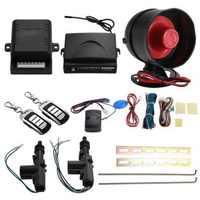 Universal Vehicle Remote Central Lock Keyless Entry System 2 Car Door Remote Central Locking Kit + Anti-theft Alarm Tool Set