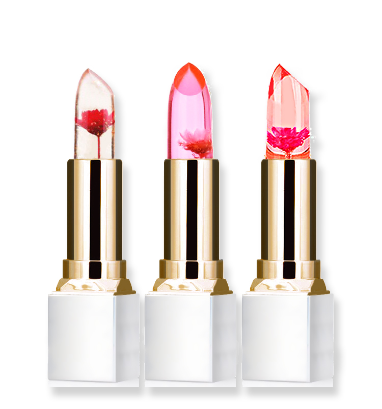 Wholesale Transparent Natural Red Lip Stick Temperature Color Change Long-lasting Moisturizer Flower Jelly Lipsticks Makeup