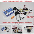 Car Parking Sensors + Rear View Camera = 2 in 1 Visual Alarm Parking System For VW Volkswagen Golf4 Golf 4 Golf5 Golf 5