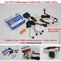 Car Parking Sensors + Rear View Camera = 2 in 1 Visual Alarm Parking System For VW Volkswagen Golf4 Golf 4 Golf5 Golf 5