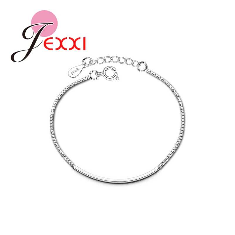 Hot Sale 925 Sterling Silver Spring Pretty Lobster Clasp Chain Bracelet for Women Fine Jewelry Gift Valentine's Day