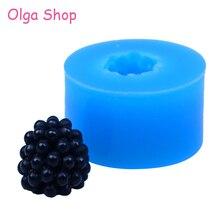 SYL038 13,3 мм 3D фрукты Blackberry силиконовые формы-фрукты формы украшения торта помадка, Sugarcraft, ювелирная смола Fimo глины плесень