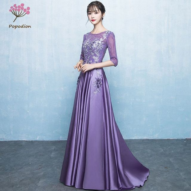 f3df5a73c92ca Aliexpress.com : Buy Popodion purple evening dress formal dress women  elegant evening dresses long sisters evening gown PRO30053 from Reliable  Evening ...