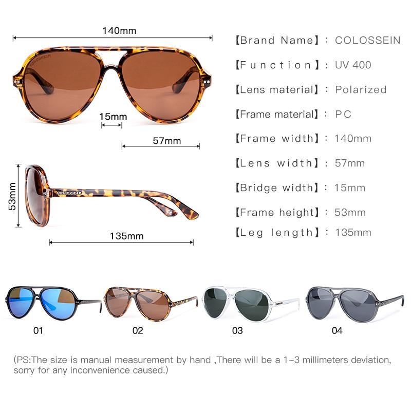 COLOSSEIN Gafas de sol Hombre Polarizado Retro Mujer Clásico Luz - Accesorios para la ropa - foto 4