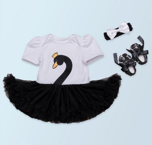 886b232471b6 3PCs per Set Baby Girls Elegant Swan Tutu Dress Bow Headband Rose ...