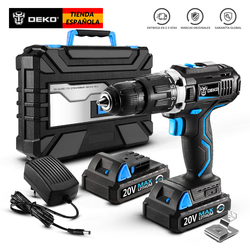 DEKO GCD20DU3 20V MAX Impact Cordless Drill Electric Screwdriver Lithium-Ion Power Driver Variable Speed with LED Light