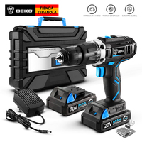 DEKO GCD20DU3 20V MAX Impact Cordless Drill Electric Screwdriver Lithium Ion Power Driver Variable Speed with LED Light