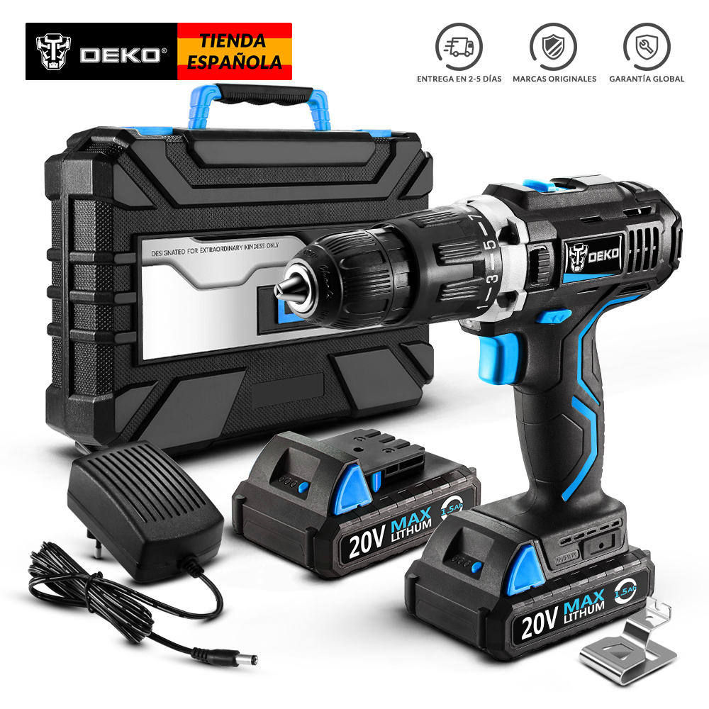 DEKO GCD20DU3 Series Household Woodworking Cordless Drill Driver Power Tools Electric Drill Power Drill Lithium-Ion Battery