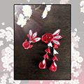 Japanese Goldfish Flower Sakura Headwear Clip Haripin Hair kimono Yukata Tassels