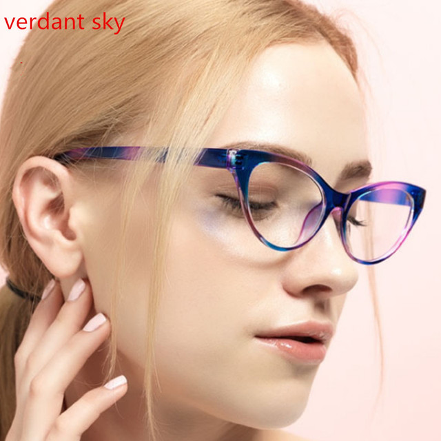7b5709aac8c57 2017 New Designer Cat Eye Glasses Retro Fashion Black Women Glasses Frame  Clear Lens Vintage Eyewear Hot Sale Women glasses