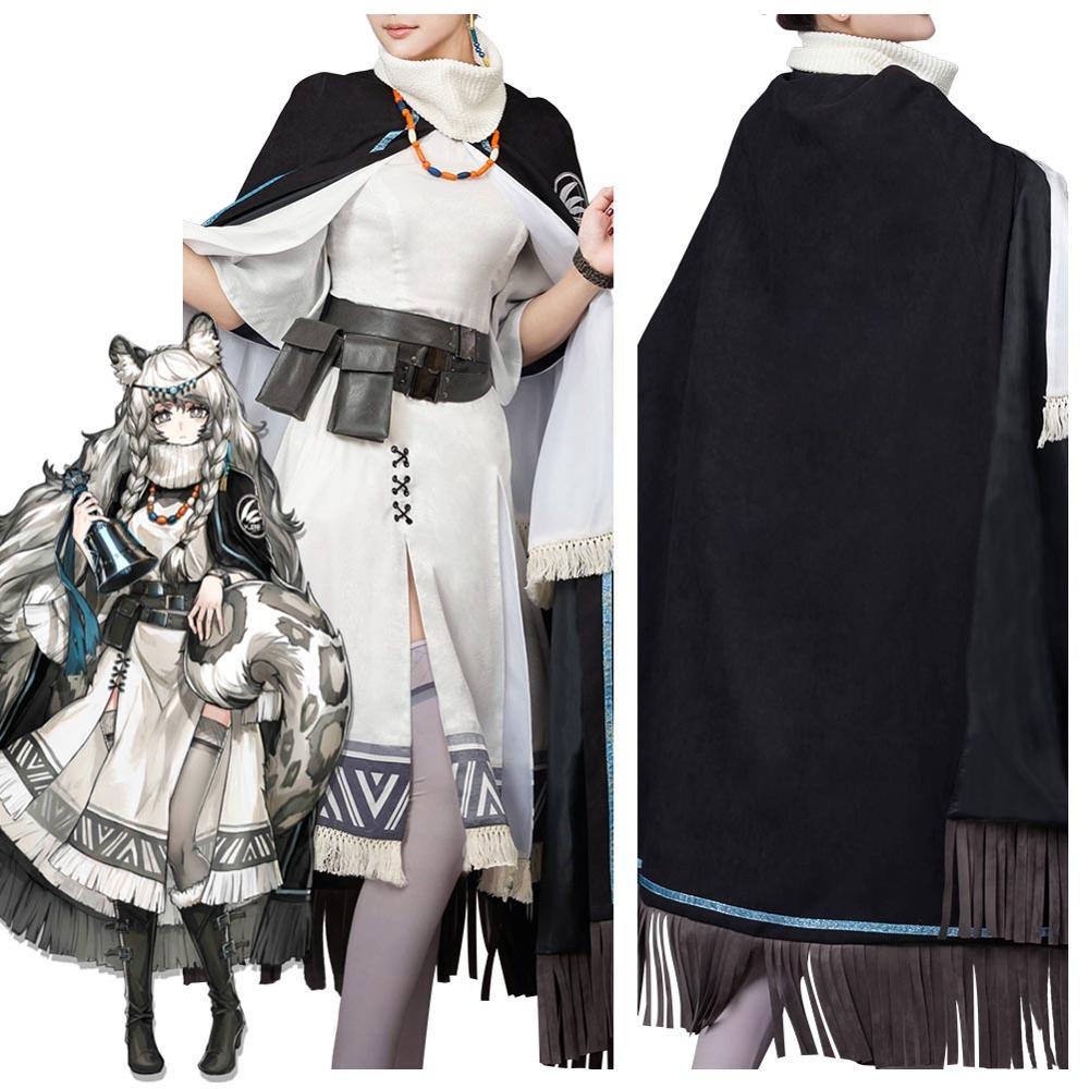 Game Arknights Hatsuyuki Cosplay Costume Full Set Custom Made Women Girls Halloween Carnival Costumes