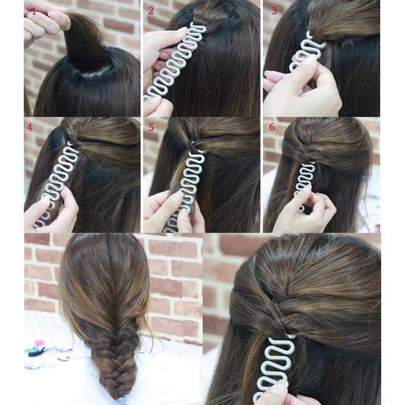 Fashion Rambut Braider Alat Roller dengan Penataan Rambut Ajaib Pembuat Twist Bun