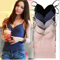 2015 New Sexy Women Summer Vest Condole Belt With Breast Pad Tank Tops Slim Camisole Women Top Plus Size 6 color