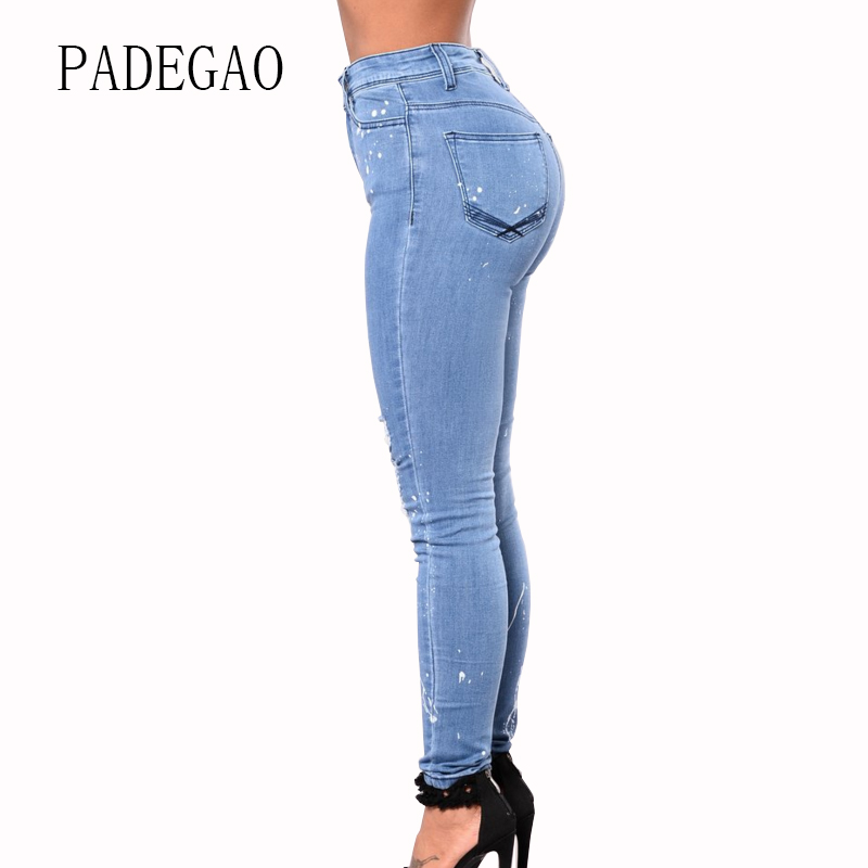 Summer Large Plus Size Ripped Hole Jeans For Women Mujer Female Push Up Womens Boyfriends Denim Femme Feminino Woman Pants womens stretch plus size ripped black jeans femme large big size skinny distressed jeans woman summer thin pants 4xl 5xl 6xl 7xl