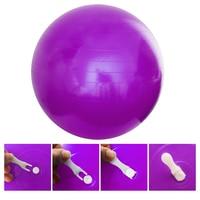 65 cm Anti-Patlama Yoga Topu SALONU Denge Istikrar Spor Egzersiz Topu Hava Pompası ile Ev Egzersiz Spor Ekipmanları-mor