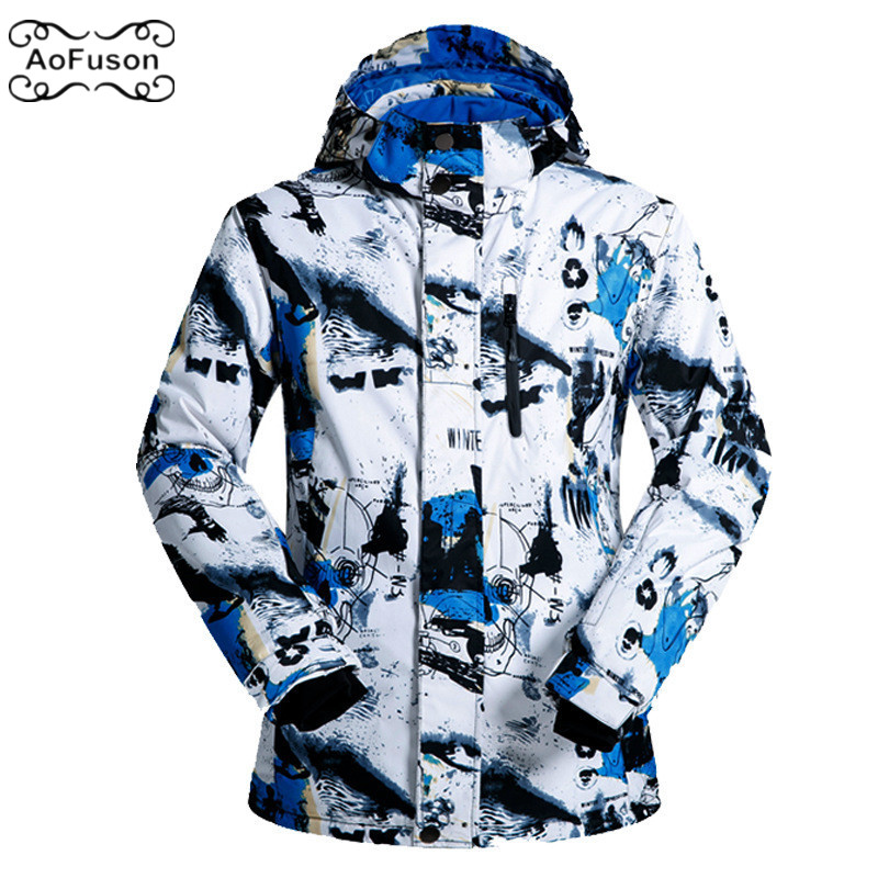 все цены на Ski Snowboard Jacket For Men Winter Snow Wateproof Thick Skiing Snowboarding Hiking Coats Male Warm Ski Jacket Top 2019 New 3XL