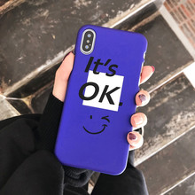 Purple smiley face Phone Case For iPhone 6 6S 7 8 Plus Frosted Hard Shell X XS MAX XR Silica Gel