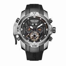Arrecife Tigre/RT Sport Watch Complicado Marcar con Año Mes Calendario Perpetuo Gran Caja de Acero Relojes RGA3532