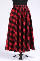 Winter Red Black Plaid Skirts Womens Autumn Plus Size 5XL 6XL 7XL A Line Wool Ankle