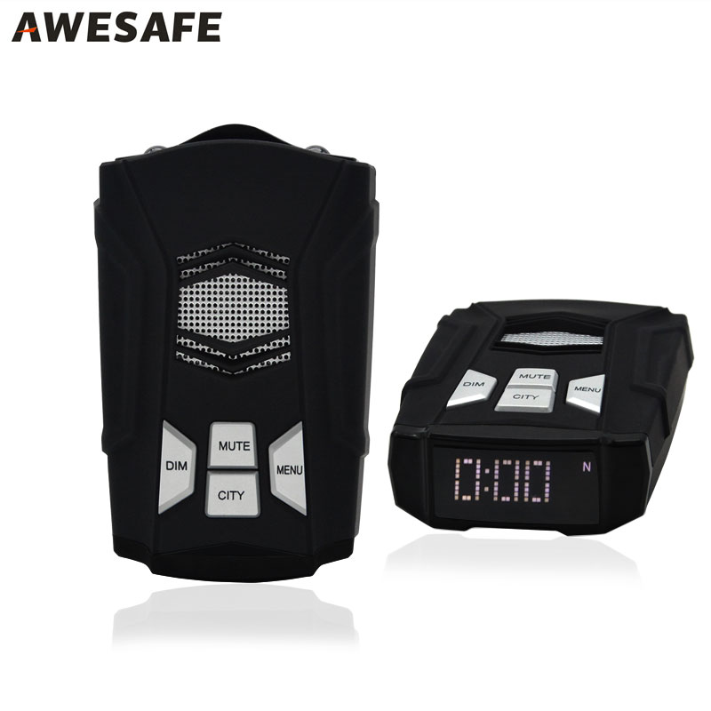 AWESAFE Car Radar Detector for Russia Fixed & Flow Velocity UpdatE X/K/KA/Laser/Strelka /CT Driving Safely Anti Radar Detector купить