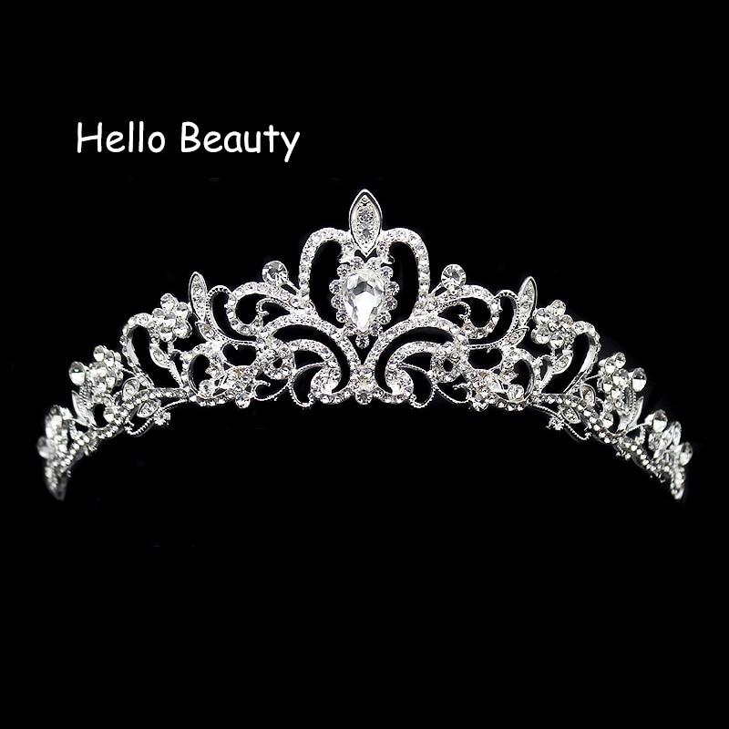 Tiara Headband Jewelry Decoration-Accessories Hair-Ornament Crystal Wedding-Crown Brides