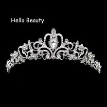 New Vintage Prom Princess Tiara Crystal Wedding Crown And Tiara Headband For Brides Hair Ornament Decoration Accessories Jewelry(China)
