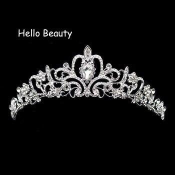 Nueva Tiara Vintage de princesa para graduación, Corona y Tiara de cristal...