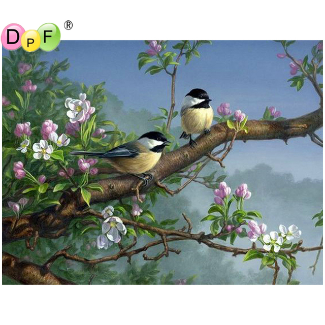 DPF DIY The tree bird 5D full square diamond painting cross stitch crafts wall painting diamond embroidery home decor mosaic kit