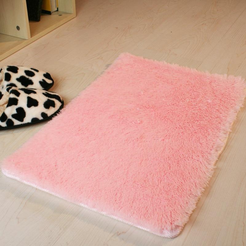 60cm Microfiber Bath Mat Rugs Dark Gray Purple Pink Brown Free Shipping-in Mats
