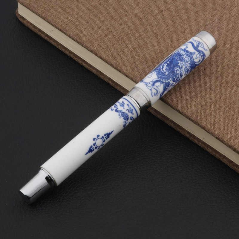 Blu e Bianco Porcellana Con Drago Pittura Trim M Penna Stilografica