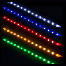 4PCS Flexible LED Light Strip 12V 30cm/15SMD Car Truck Motors LED Decoration Light Strip Waterproof Colorful Car Light waterproof 4 8w 200lm 48 led blue light car decoration flexible strip lamp 12v