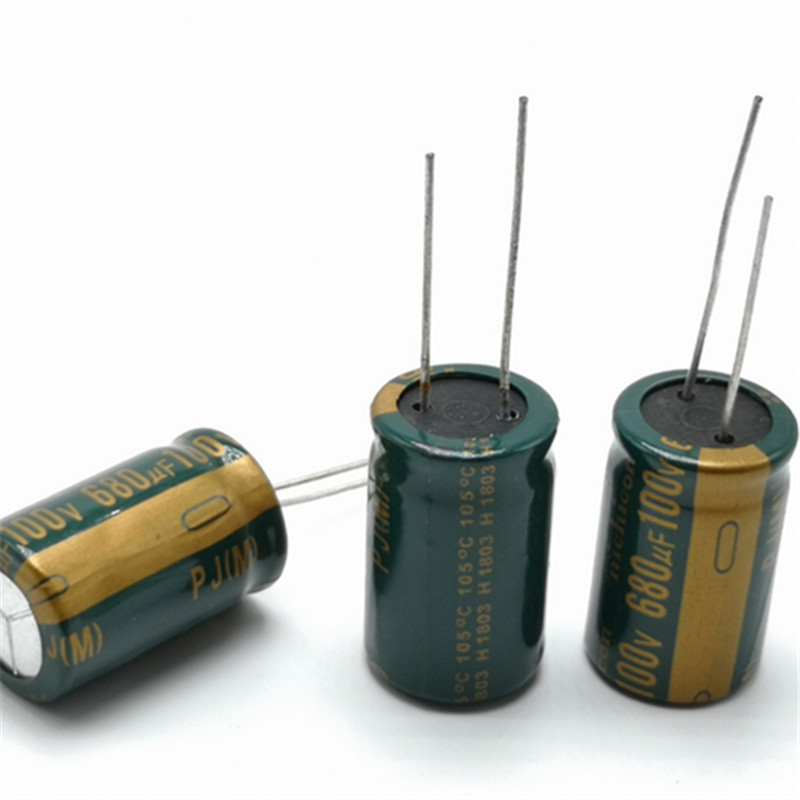 2pcs/lot High Frequency Low Impedance 100V 680UF 16*25mm 20% RADIAL Aluminum Electrolytic Capacitor 680000nf
