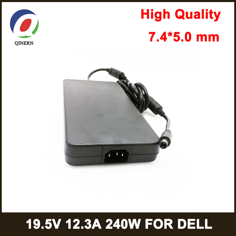QINERN  240W Notbook Power Supply 19.5V 12.3A 7.4*5.0mm PIN SIZE  Laptop Adapter for Dell AC ChargerQINERN  240W Notbook Power Supply 19.5V 12.3A 7.4*5.0mm PIN SIZE  Laptop Adapter for Dell AC Charger