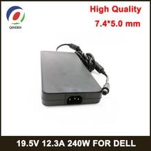 QINERN 240 Вт Notbook блок питания 19,5 в 12.3A 7,4*5,0 мм PIN размер ноутбука адаптер для Dell AC зарядное устройство