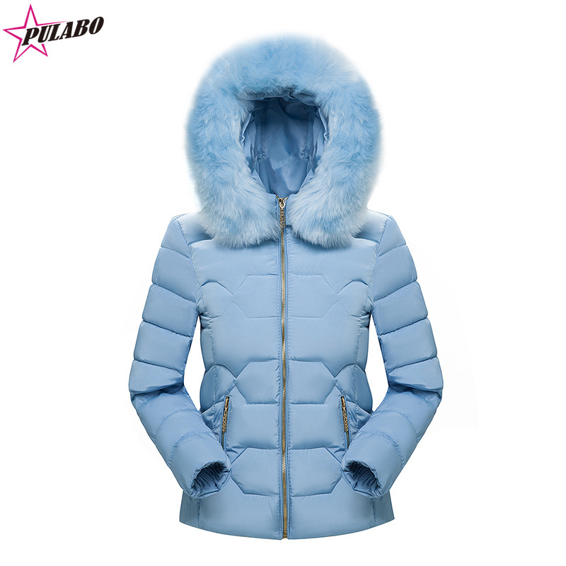 PULABO 2019 Women Winter Short Jacket Mujer Hooded   Parkas   Winter Coat Women Loose   Parka   Fur Collar Cotton Padded Jackets