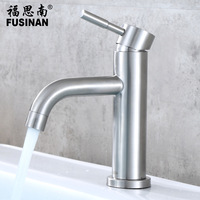 SUS 304 Stainless Steel Kitchen Faucets Chrome Silver Bathroom Basin Faucet Single Handle Hole Mixer Taps