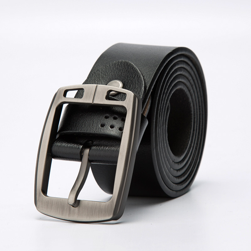 Genuine Cow Leather Men Belts Luxury Brand Strap New Male Leather Belt Classic Pin Buckle Belt