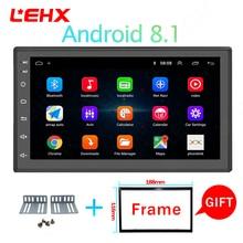 LEHX 7 дюймов 2 Din Android 8,1 автомобильный Радио gps навигация Универсальный Bluetooth автомобильный аудио стерео AM/FM USB мульти-медиа сенсорный экран