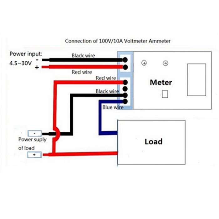 Rot DC 0 100 V/10A Digital Voltmeter Amperemeter Amperemeter Auto ...