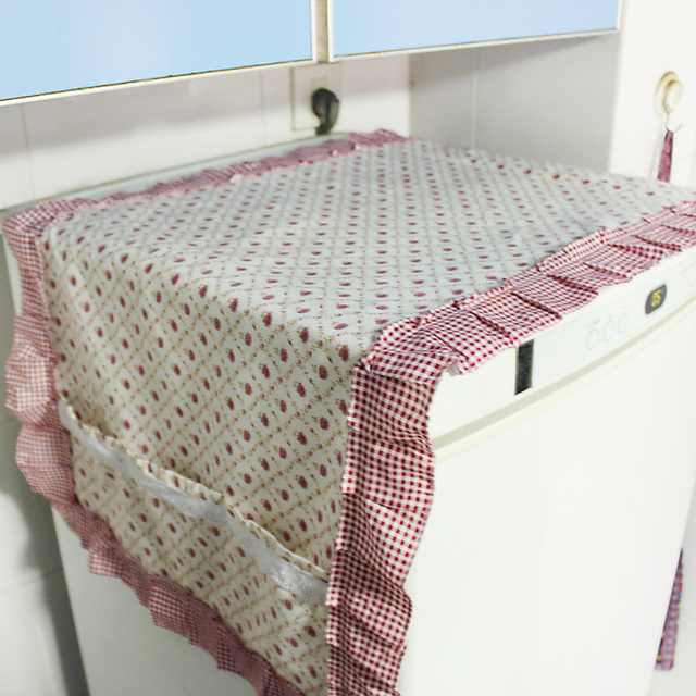Exquisite fabric small round table cloth universal cover towel refrigerator towel refrigerator cover perfume lily