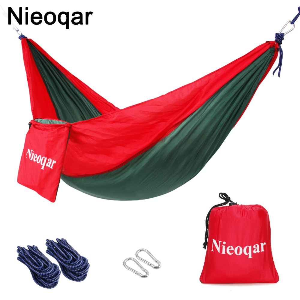 ultralight 1 2 person hammocks outdoor camping traveling hiking sleeping bed picnic swing tent single tent