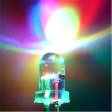 Gratis Pengiriman 1000 Pcs/lot Light Emitting Diode Lampu Warna-warni 5 Mm LED F5 24-26 Mm Panjang Pin Lambat flash