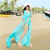 Kimono White Cardigan Womens 2018 Summer Boho Cardigans Long Chiffon Sexy Ruffles Plus Size Beach Cover up Kimonos Blusas Cape