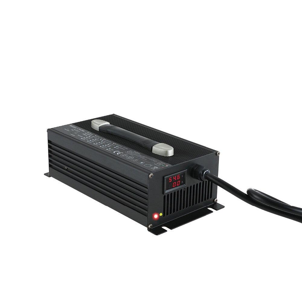 72 V 15A Chargeur de Batterie 1500 w 72 volts batterie chargeur avec boîtier En Alliage D'aluminium et ventilateur de refroidissement