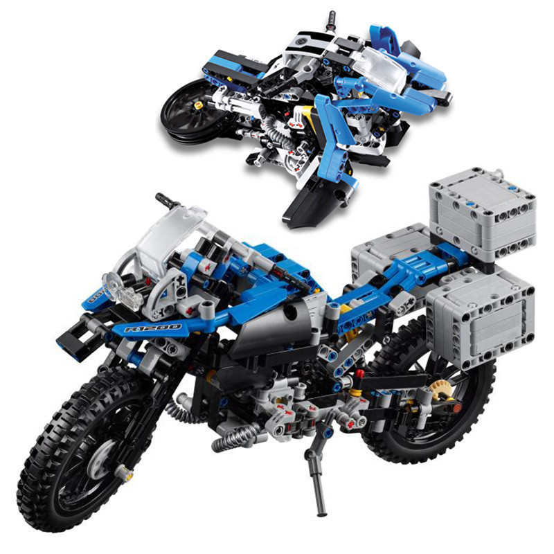20032 Technic Off-road Motorcycles R1200 GS Model Building Blocks Bricks Toys for Boys Compatible with Legoingly 42063 for Gifts decoo 3369 technic series the bamw off road motorcycles r1200 gs building blocks bricks educational toys lepin 20032 b11