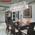 Современные хрустальные люстры прямоугольные светодиодные подвесные лампы для помещений в стиле арт-деко светильники для столовой гостин...