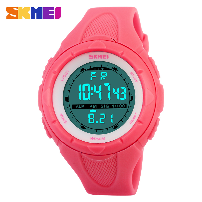 Skmei Brand Fashion Casual Women's Watch Waterproof LED Digital Sports Watches For Boys Girl Outdoor Sport Wristwatches outdoor multifunction waterproof children watches boys girls sports electronic watches sport digital watch casual wristwatches